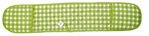 GREEN COLOUR CHECK DOUBLE OVEN GLOVE QUILTED 100% COTTON